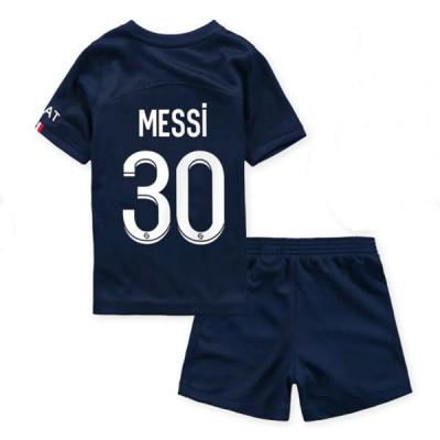 Dječji Nogometni Dresovi Barcelona 2018-19 Lionel Messi 10 Domaći Komplet Kratkih Rukava